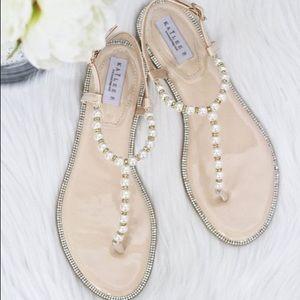2fa875283e3e81 Women s Wedding Flat Sandals With Rhinestones on Poshmark